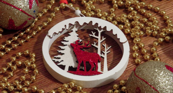 stilinga kalėdinė dekoracija namams